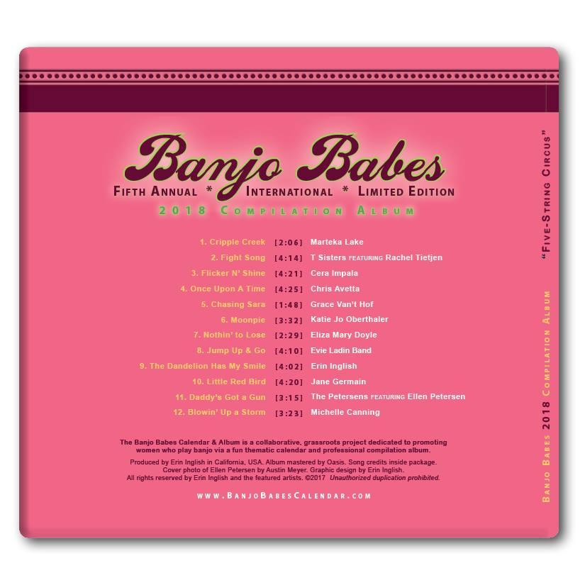 Back of Banjo Babe Calendar Compilation Album