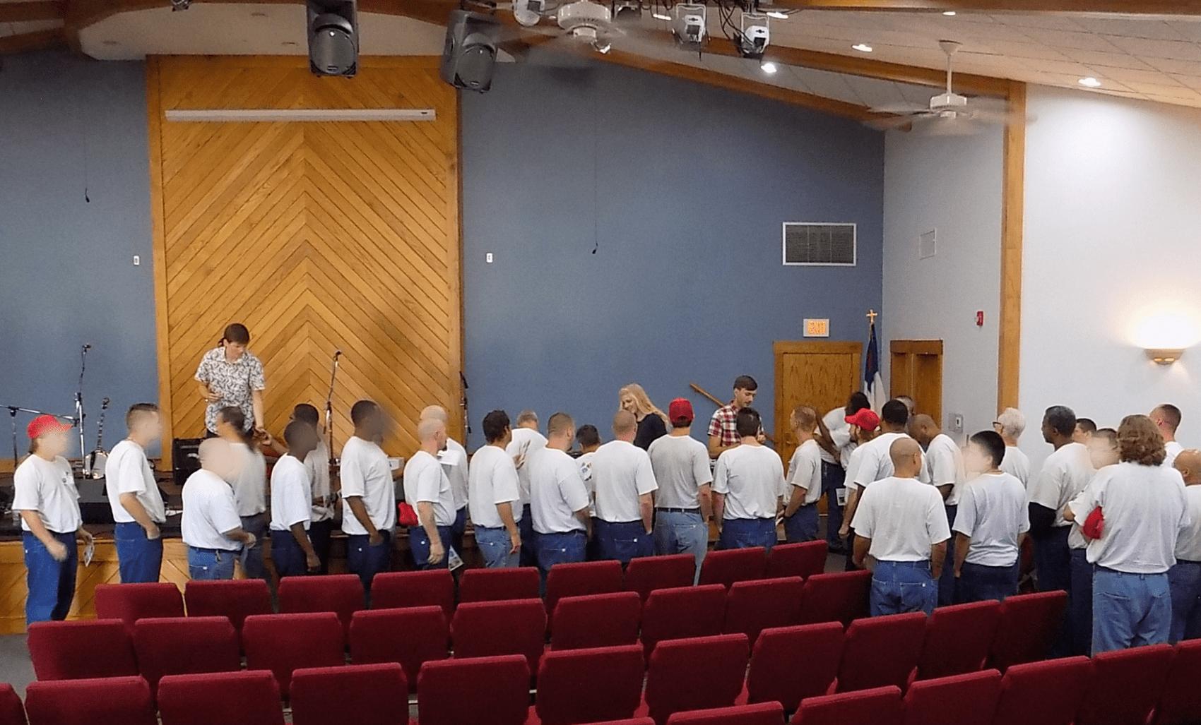 Petersens perform at Ellsworth Correctional Facility